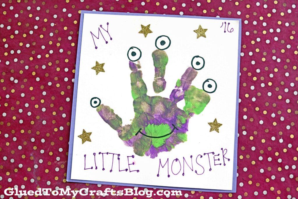 Mommy's Little Monster - Handprint Craft Idea For Halloween