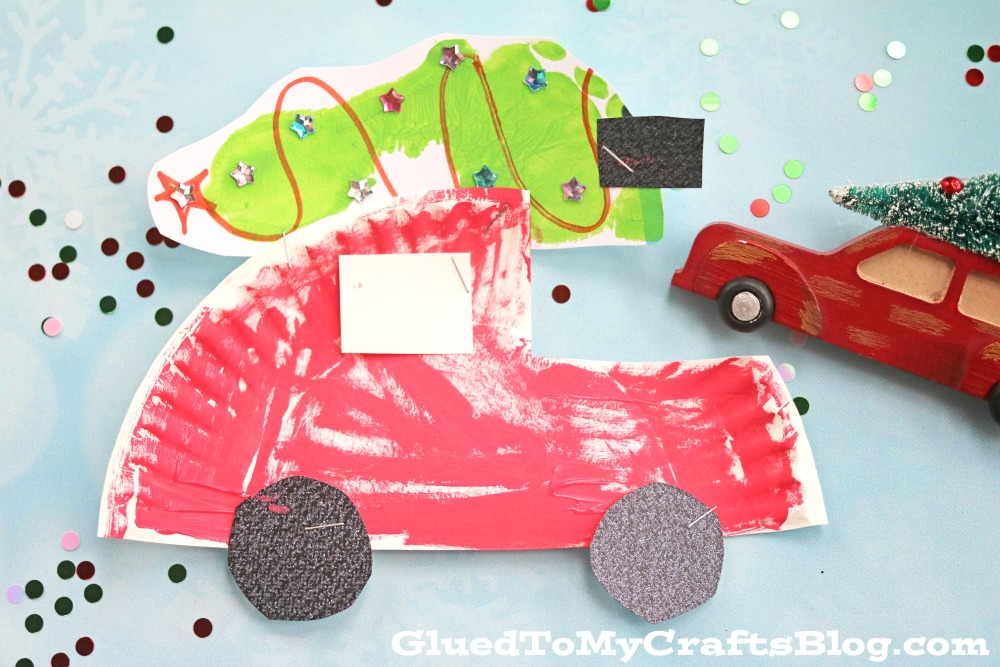 Paper Plate Christmas Car Kid Craft Glued To My Crafts