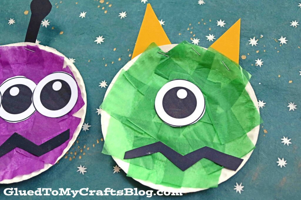 Paper Plate Monster - Kid Craft Idea For Halloween