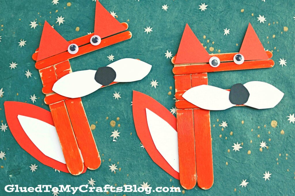 """F"" is for Craft Stick Fox - Letter Recognition Kid Craft Tutorial"