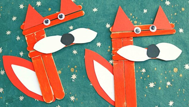 """""""F"""" is for Craft Stick Fox - Letter Recognition Kid Craft Tutorial"""