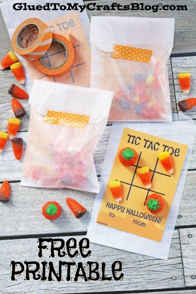 Halloween Tic Tac Toe - Gift Printable