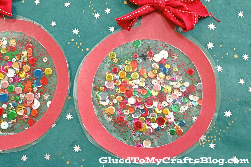 Stained Glass Ornaments - Kid Craft w/free printable template