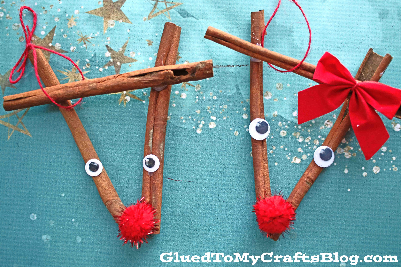 DIY Cinnamon Stick Reindeer Ornament - Kid Craft