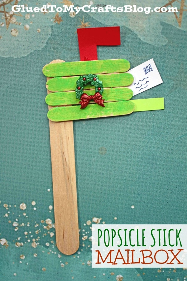 Popsicle Stick Christmas Mailbox - Kid Craft