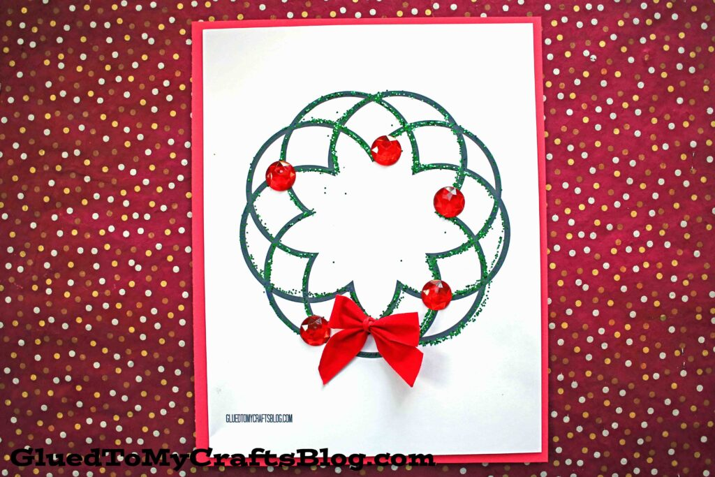 Glitter & Paper Christmas Wreath Kid Craft Idea