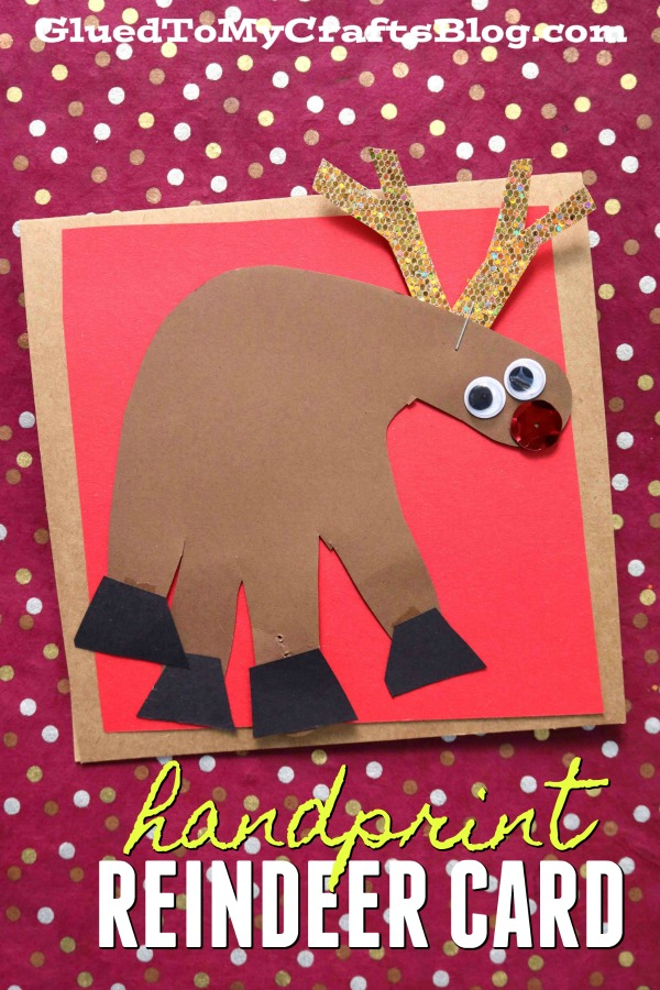 Handprint Reindeer Christmas Card - Kid Craft Idea