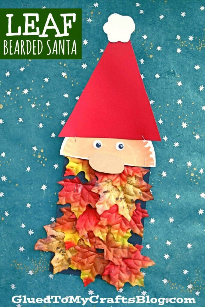 Creative Leaf Beard Santa Craft For Kids To Make This Christmas