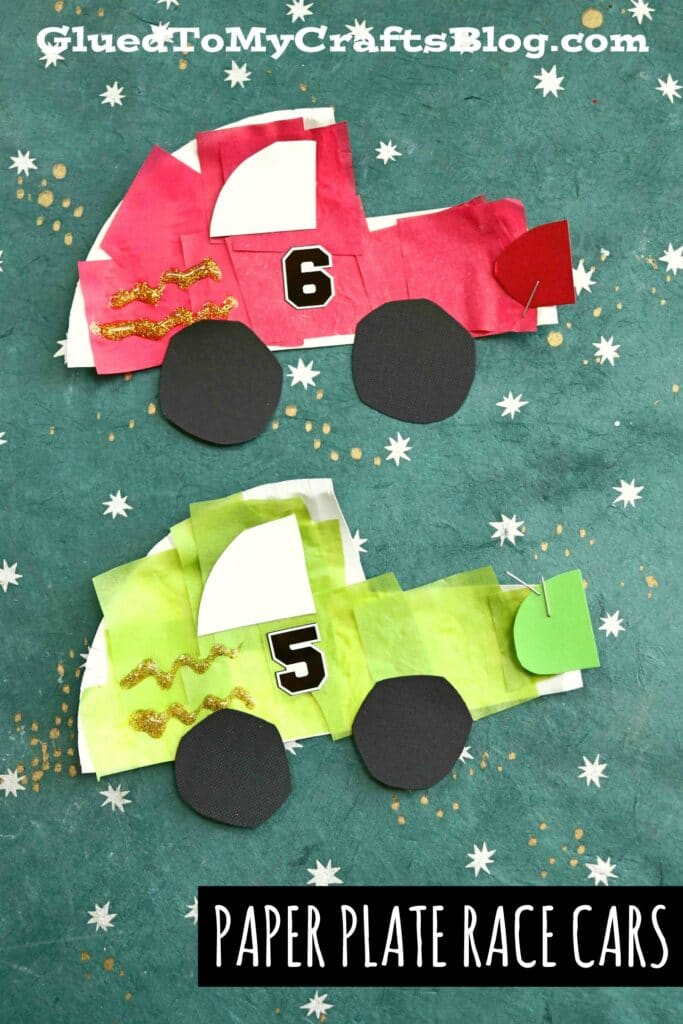 Speedy Paper Plate Race Cars - Kid Craft Idea For Racing Fans