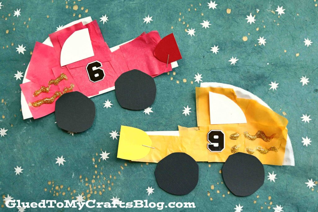 Paper Plate Race Cars - Kid Craft