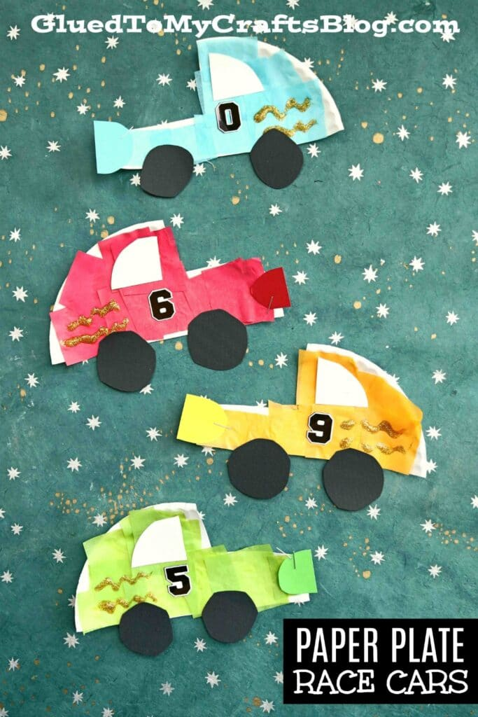 Paper Plate Race Cars - Kid Craft Idea For Racing Fans