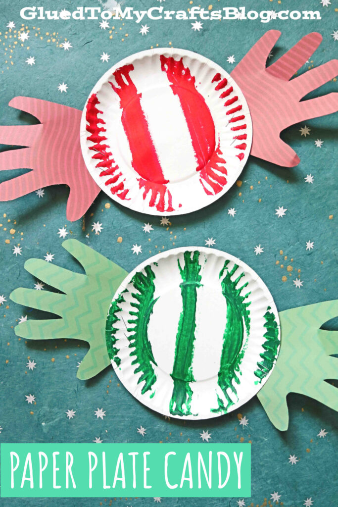 Paper Plate Peppermint Candy - Kid Craft