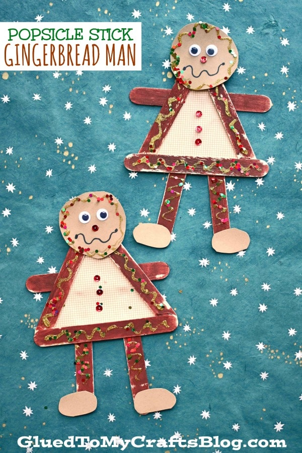 Popsicle Stick Gingerbread Man - Kid Craft