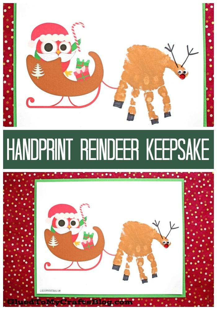 Handprint Santa's Reindeer - Keepsake Printable