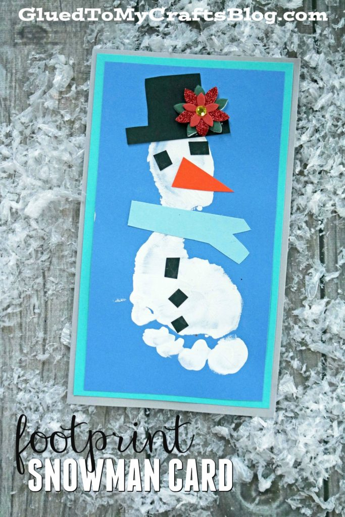 Footprint Snowman Card - Kid Craft