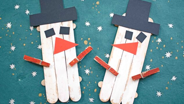 Popsicle Stick Snowman Puppet - Kid Craft