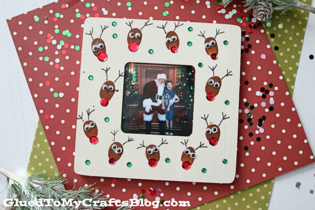 Thumbprint Reindeer Frame - Christmas Gift Idea
