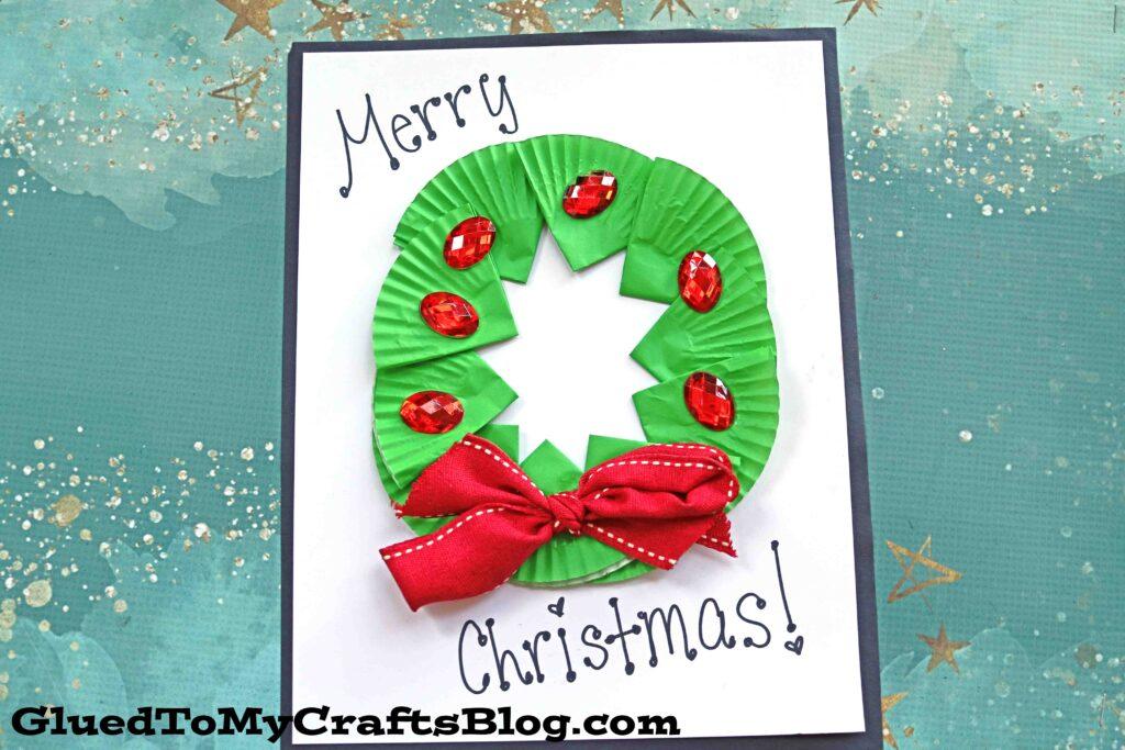 Cupcake Liner Christmas Wreath - Winter Kid Craft