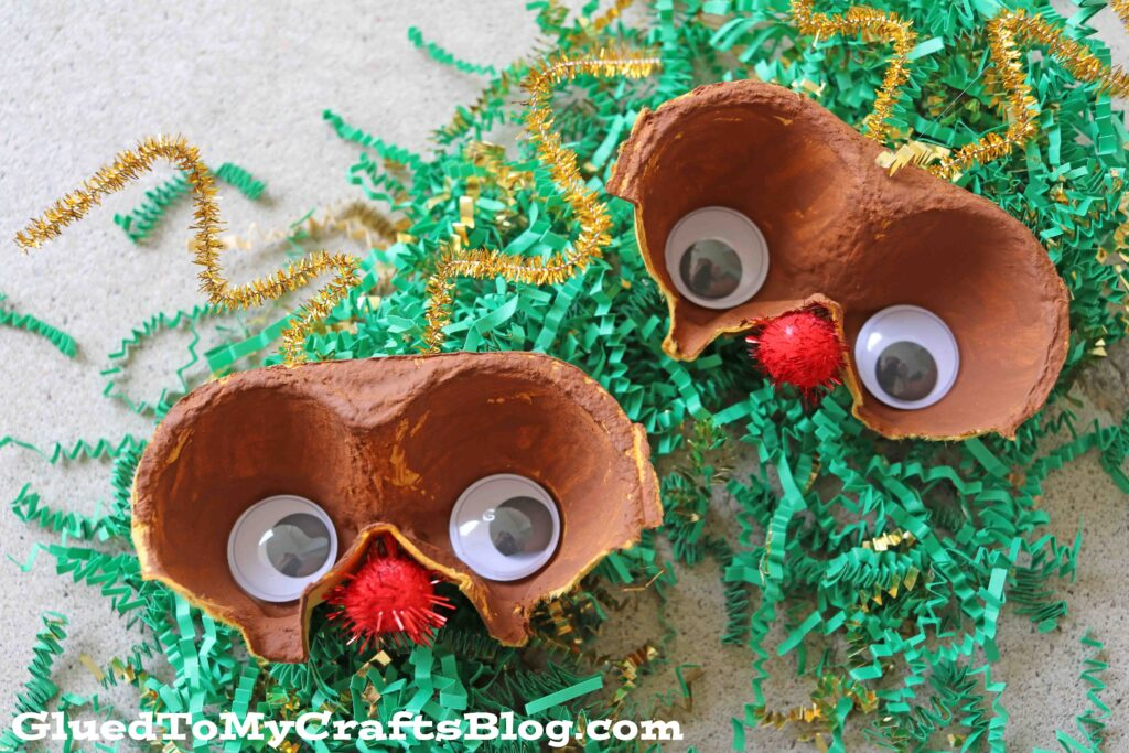 Egg Carton Reindeer - Christmas Craft Idea For Kids