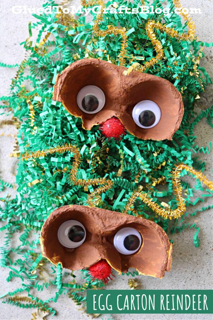 Egg Carton Reindeer - Kid Craft