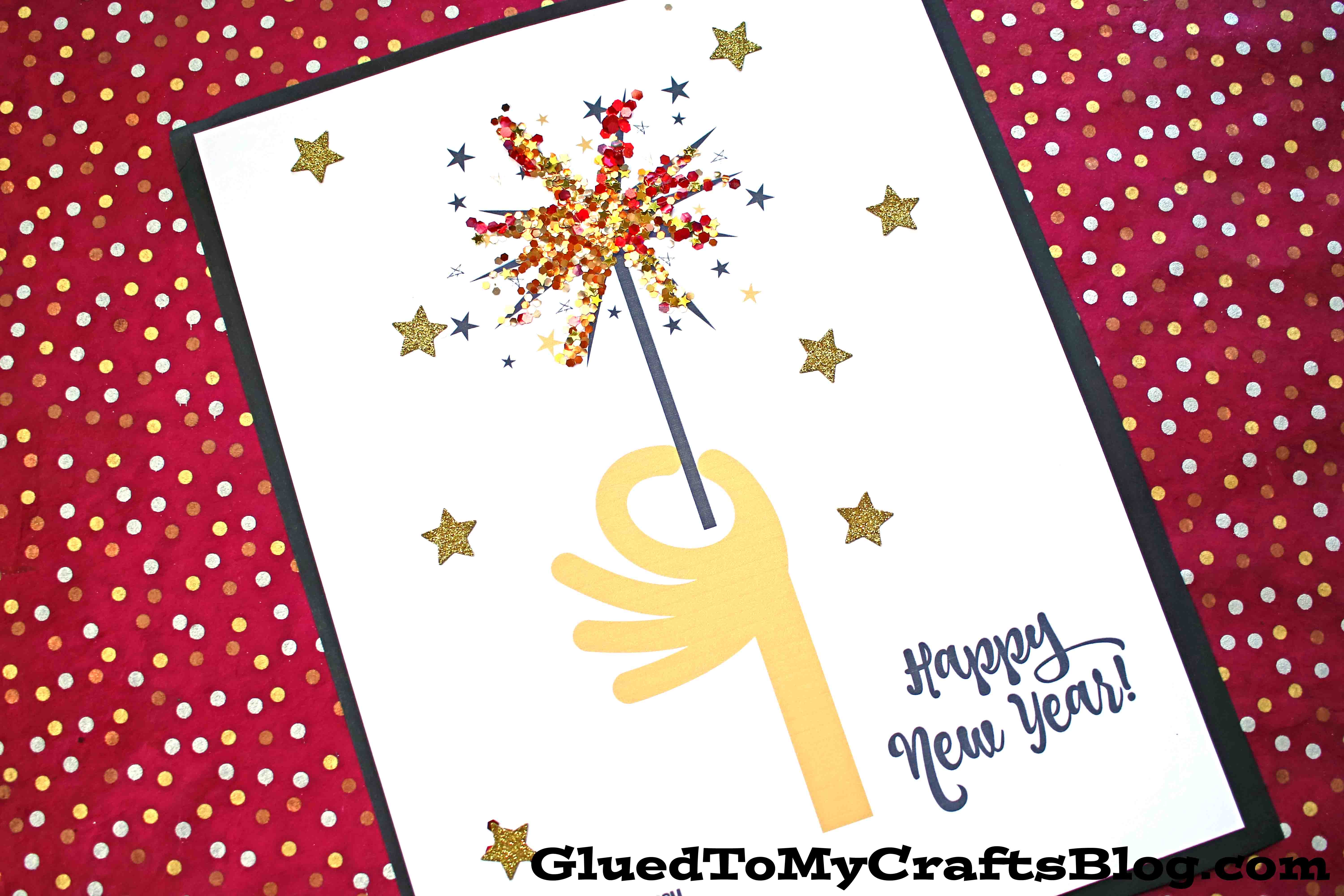 New Year's Paper Firework Sparkler Craft For Kids