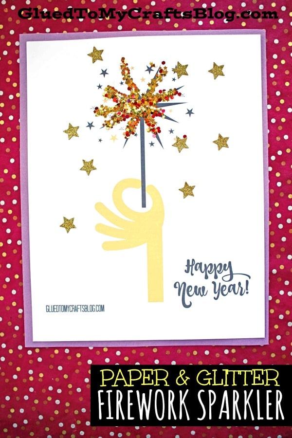 New Year's Paper Firework Sparkler Craft For Kids