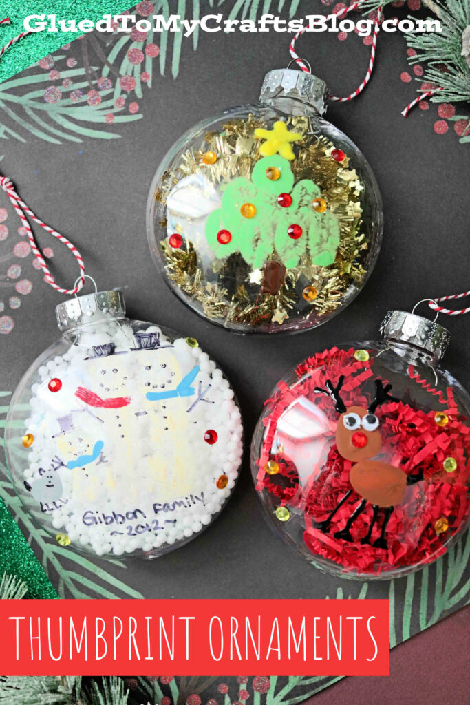 Thumbprint Christmas Ornaments - Kid Craft