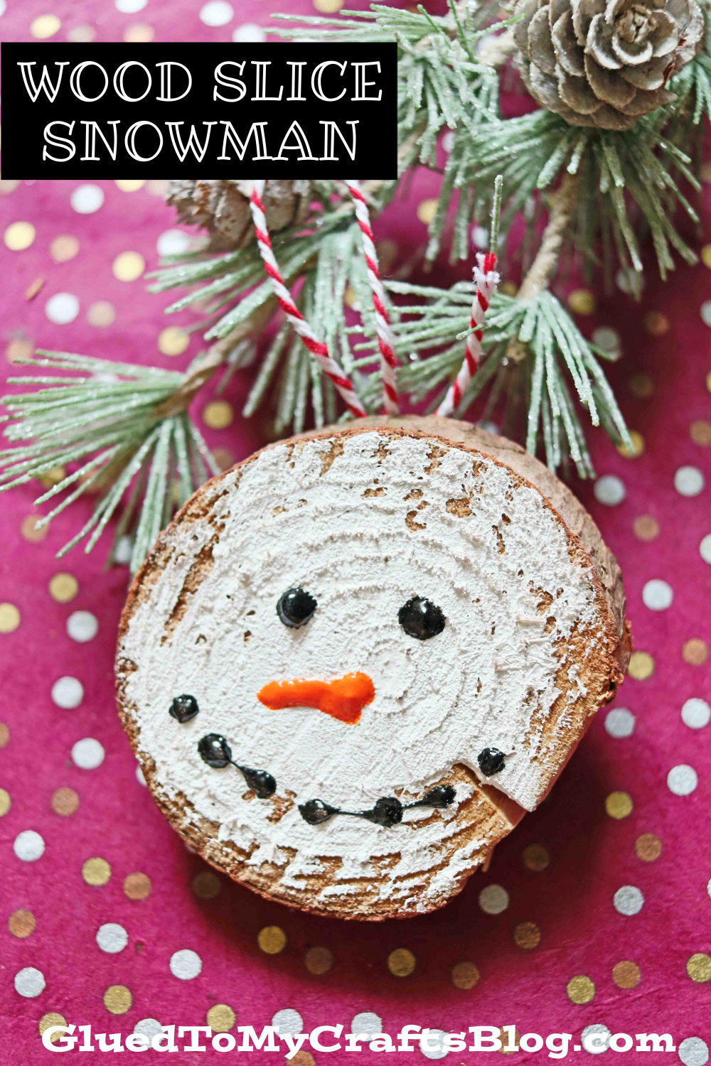 Wood Slice Snowmen Ornaments For Your Christmas Tree