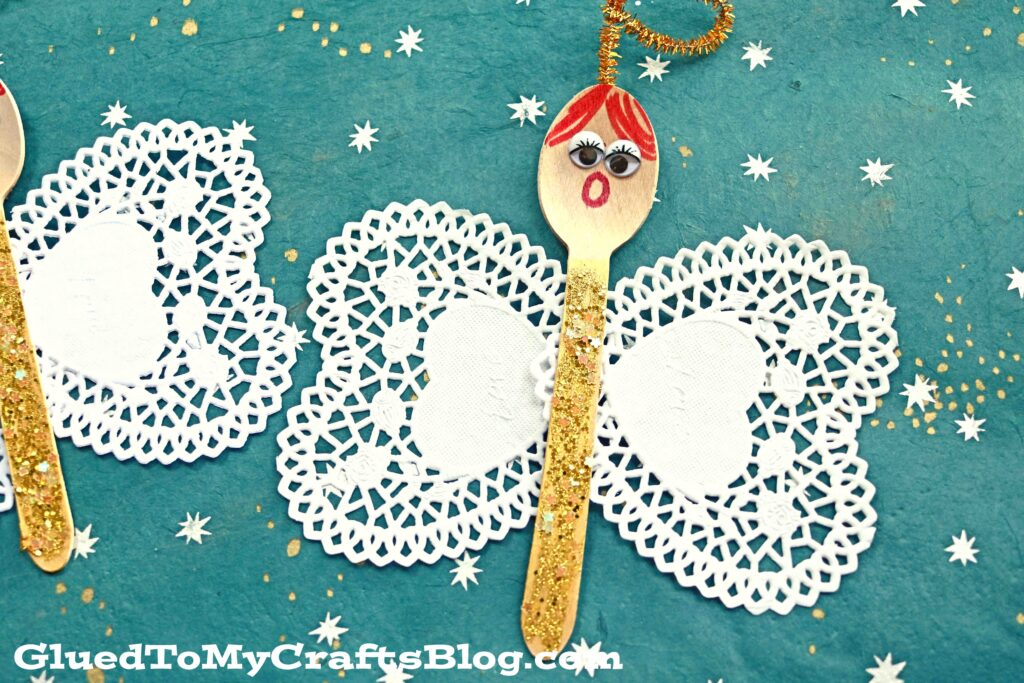 Wooden Spoon Christmas Angel - Kid Craft