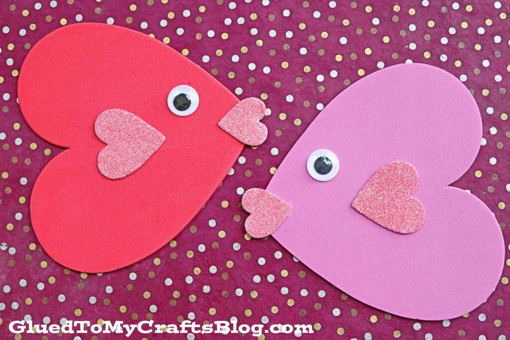 Craft Foam Heart Valentine Fish - Kid Craft