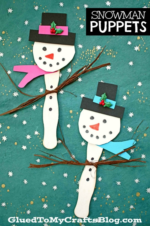 Craft Foam Snowman Puppet Friend - Winter Kid Craft
