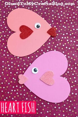 Craft Foam Heart Valentine Fish - Kid Craft