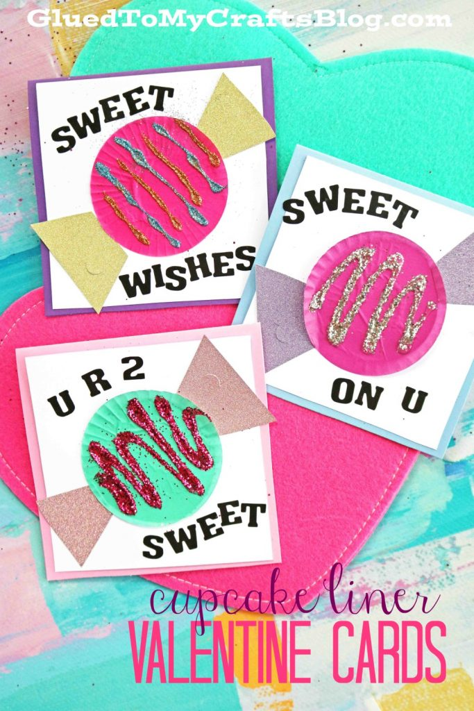 "Cupcake Liner ""Candy"" Cards - Kid Craft"
