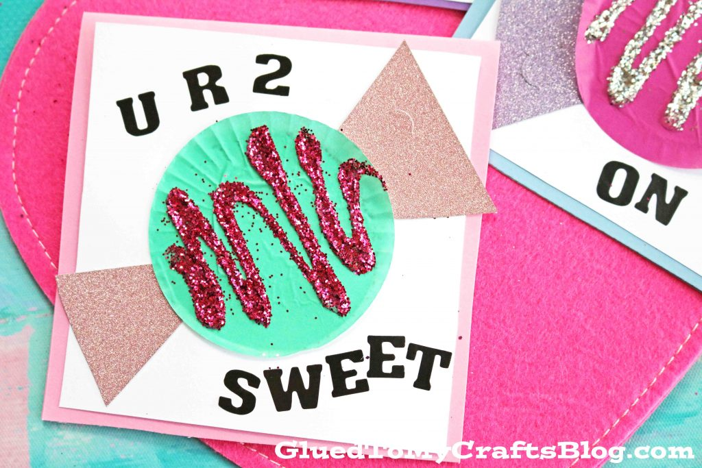 "Cupcake Liner ""Candy"" Valentine Cards"
