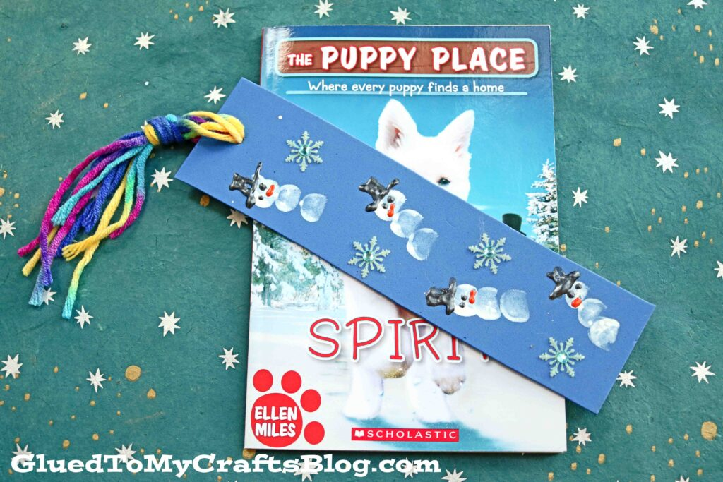 Thumbprint Snowman Bookmarks - Kid Craft