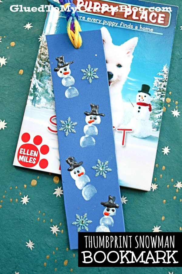 Thumbprint Snowman Bookmarks - Kid Craft