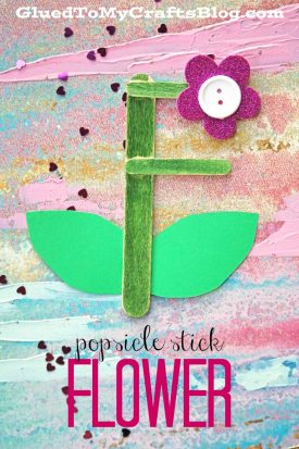 Popsicle Stick Flower - Kid Craft