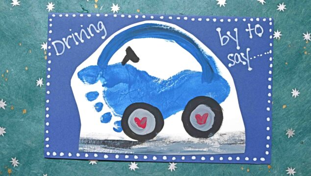 Driving By To Say - Footprint Car Card Idea For Valentine's Day