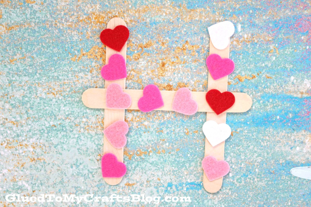 """""""H"""" is for Hearts - Valentine's Day Kid Craft"""