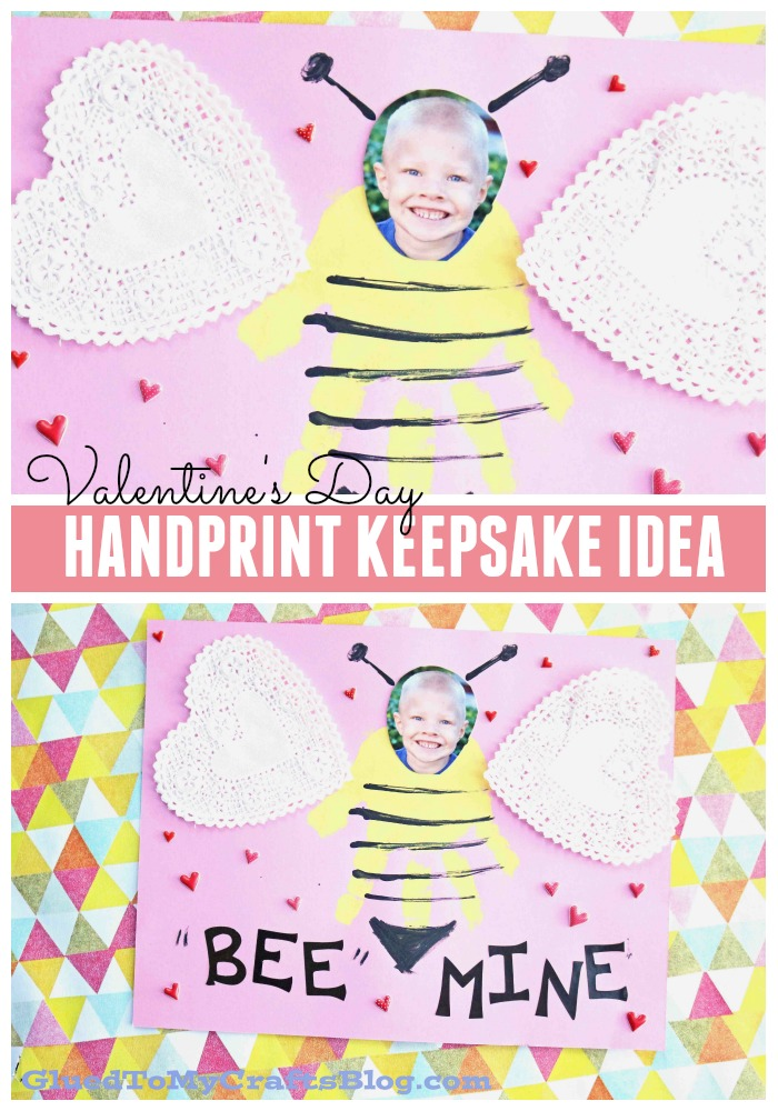 Handprint BEE Mine Keepsake Idea For Kids To Make This Valentine's Day