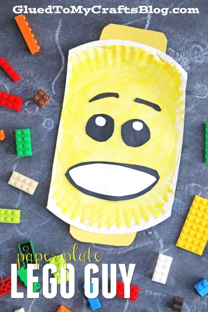 Paper Plate Lego Character Head - Kid Craft