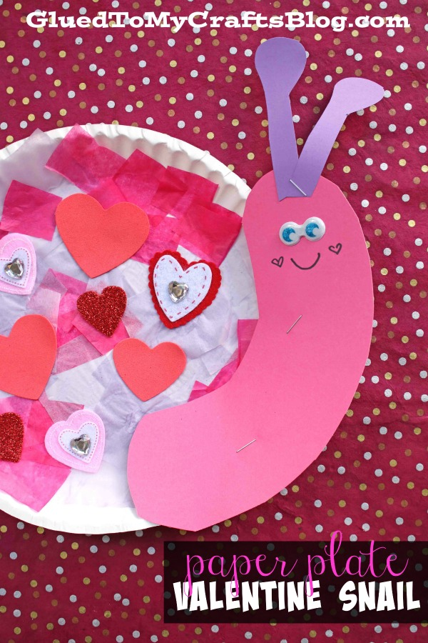 Paper Plate Valentine Snail - Kid Craft