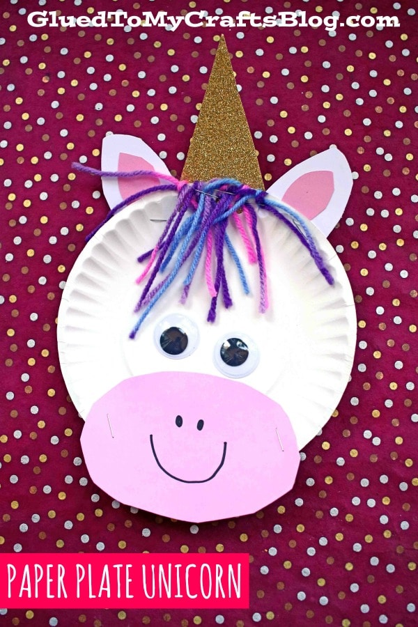 Paper Plate Unicorn - Kid Craft