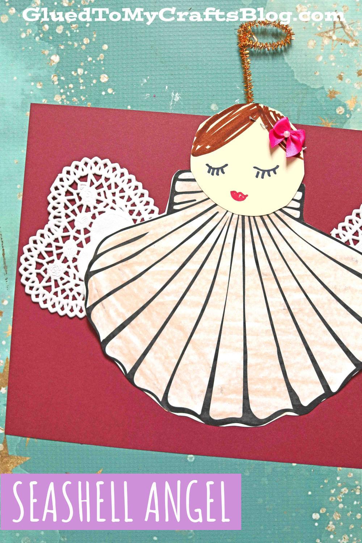 Paper Seashell Angel Art Project For Kids