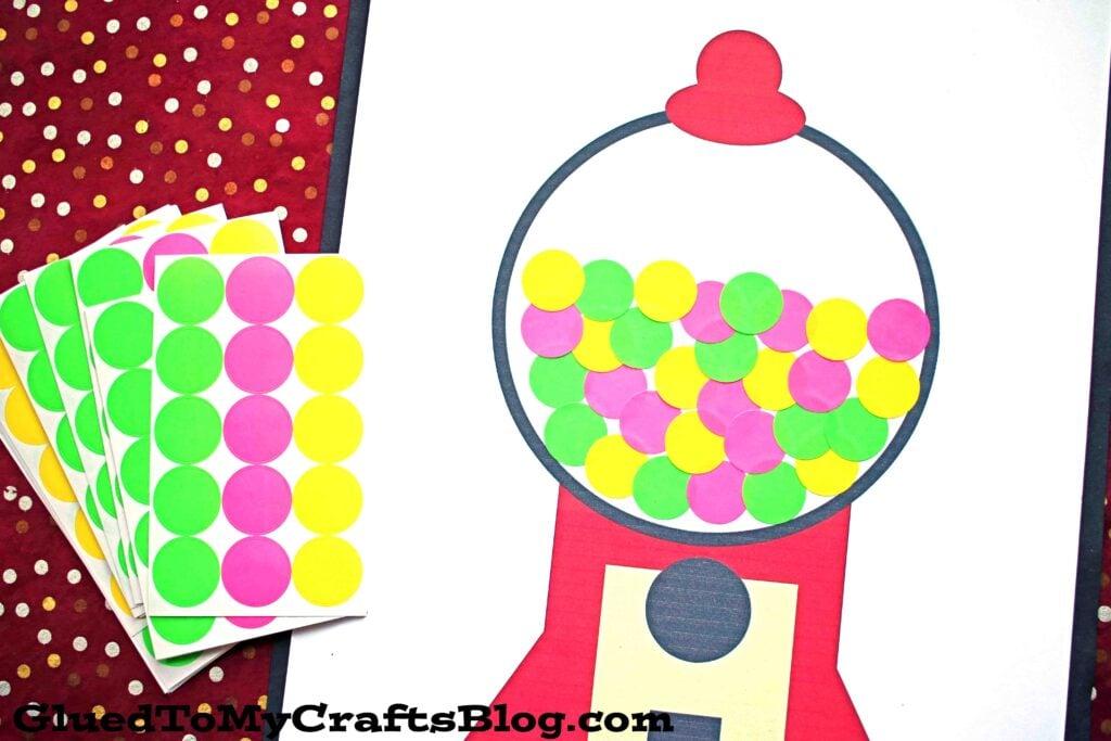 Paper Polka Dot Gumball Machine - Kid Craft
