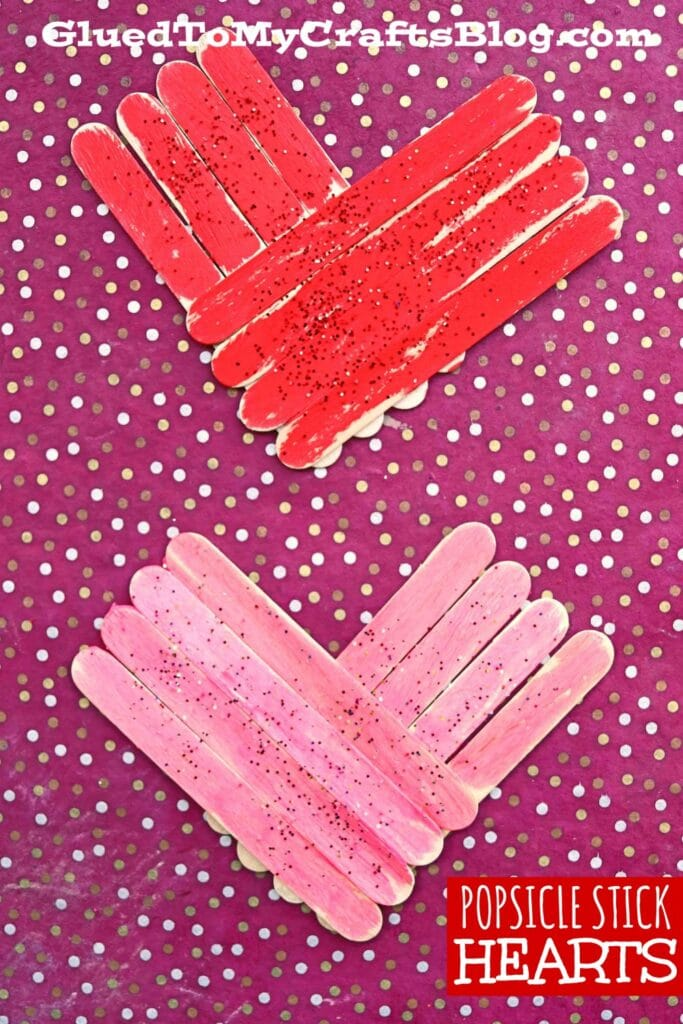 Popsicle Stick Hearts - Kid Craft For Valentine's Day