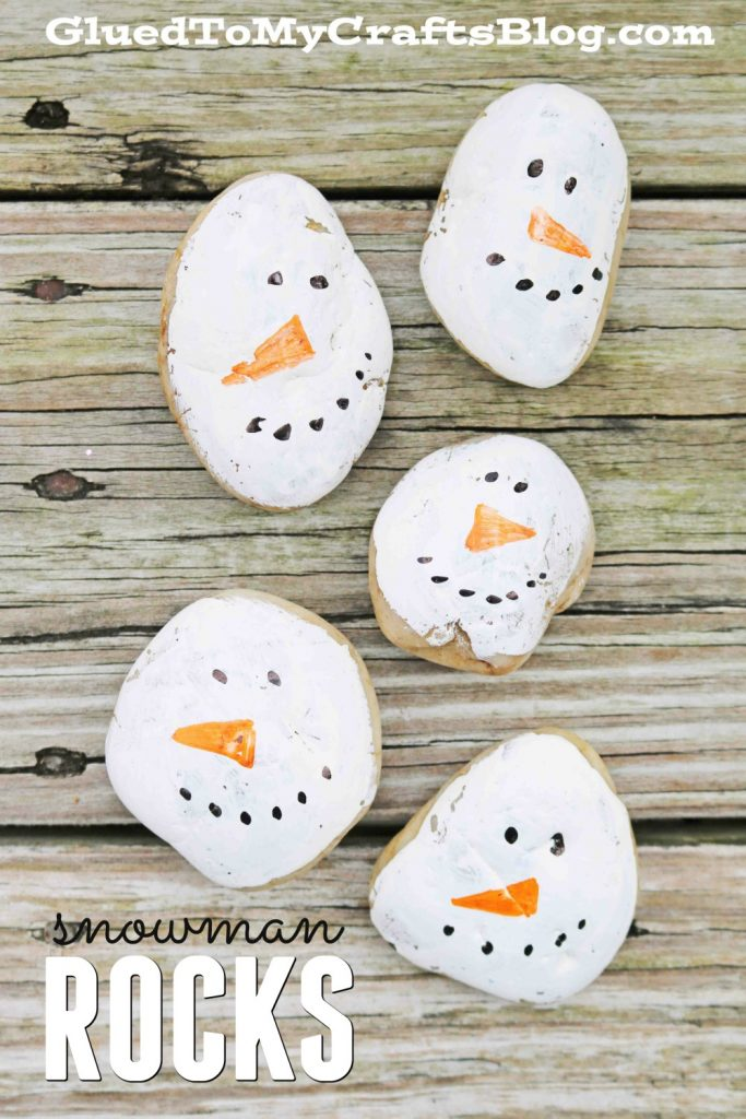 Snowman Rocks - Kid Craft
