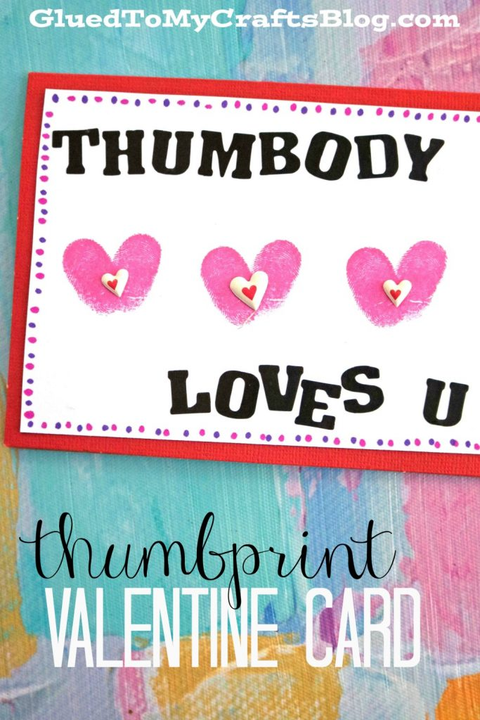 Thumbprint Valentine's Day Cards - Kid Craft