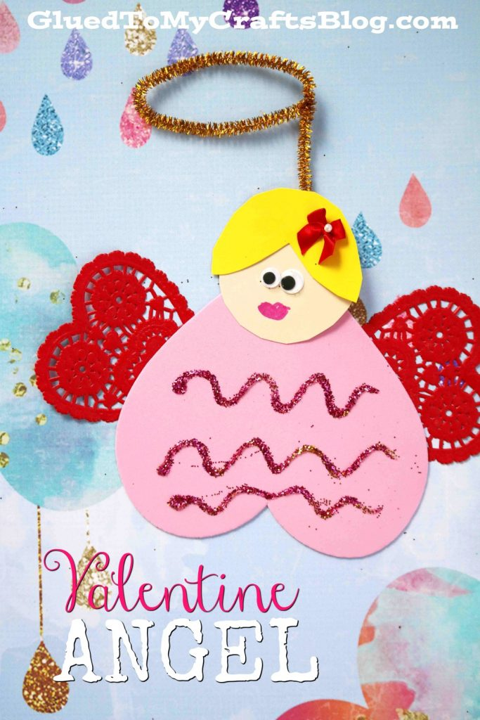 Craft Foam Valentine Heart Angel - Kid Craft