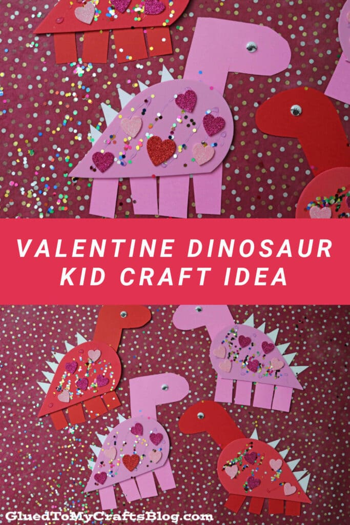 Craft Foam Valentine Dinosaur - Kid Craft